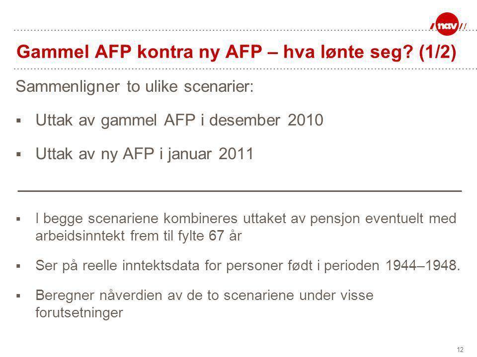 12 Gammel AFP kontra ny AFP – hva lønte seg.