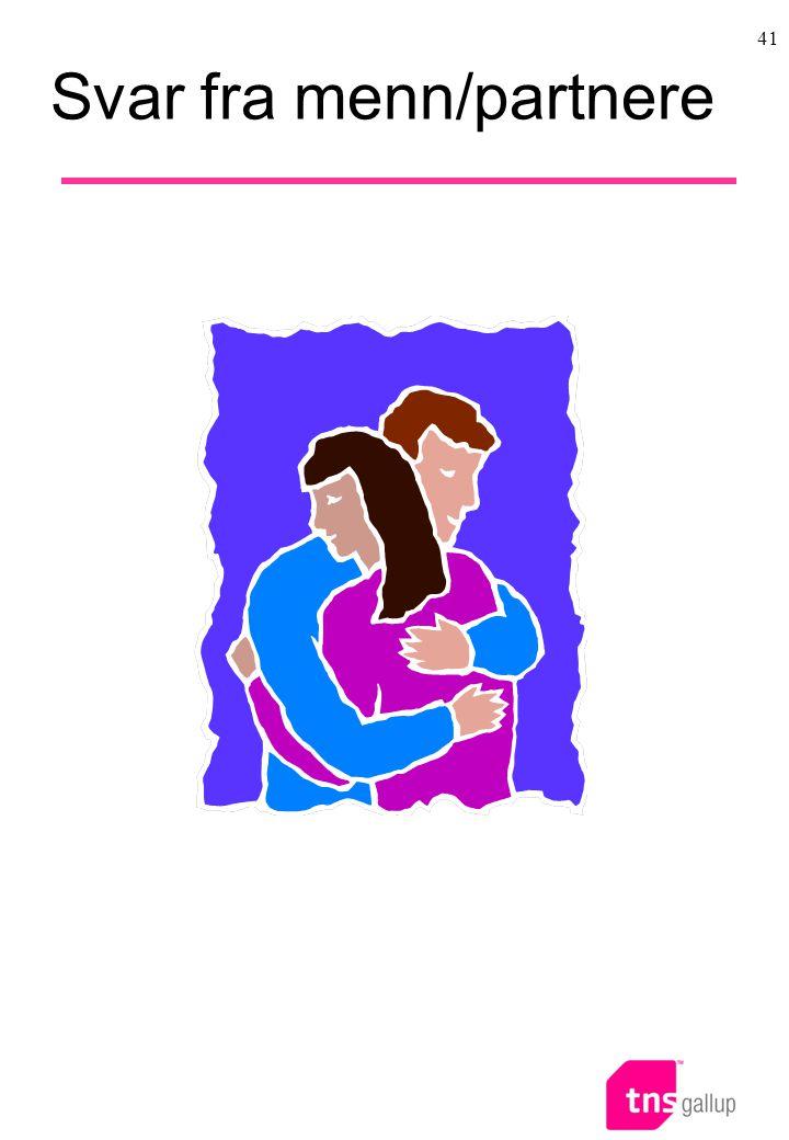 41 Svar fra menn/partnere