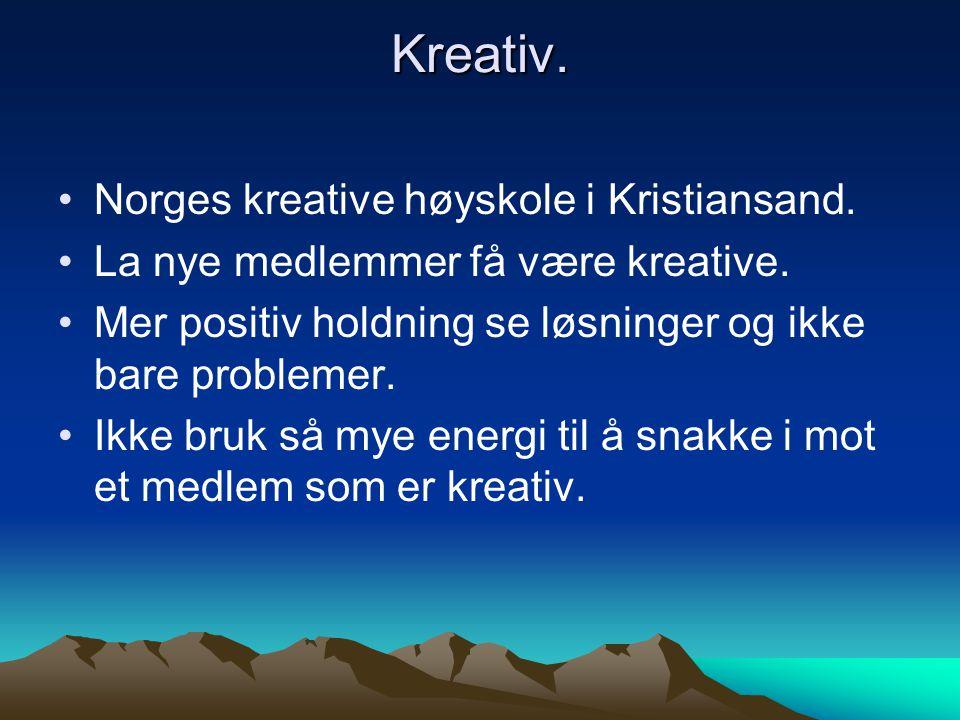 Inspirasjon.•Knut Jørgen Røed Ødegård. •Vi trenger en person som er like inspirerende.