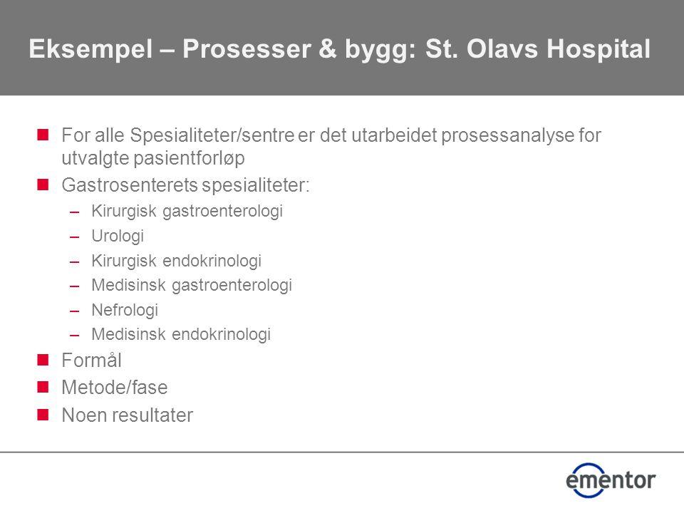 Eksempel – Prosesser & bygg: St.
