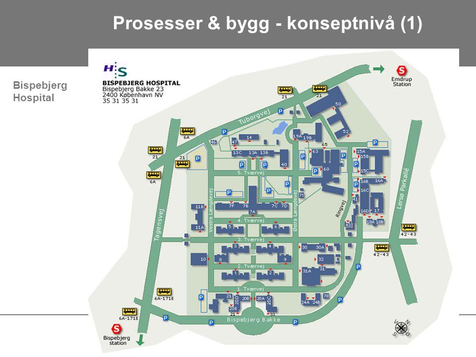 Prosesser & bygg - konseptnivå (1) Bispebjerg Hospital