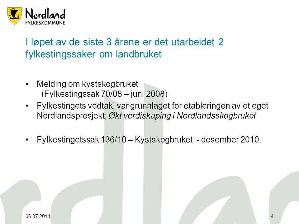 06.07.20145 Gjennom forvaltningsreformen ønsker Landbruks- og matdepartementet å styrke fylkeskommunen som regional utviklingsaktør.