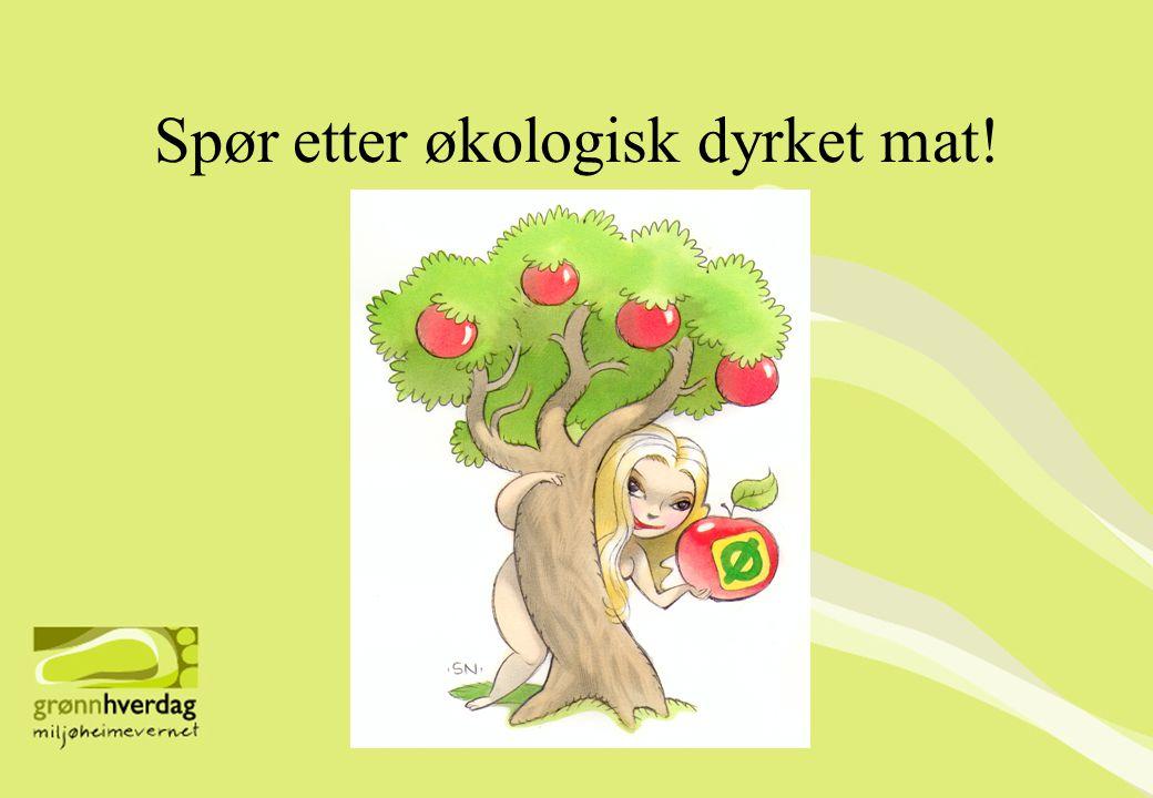 Spør etter økologisk dyrket mat!