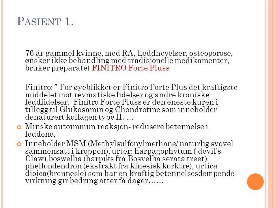 P ASIENT 1.