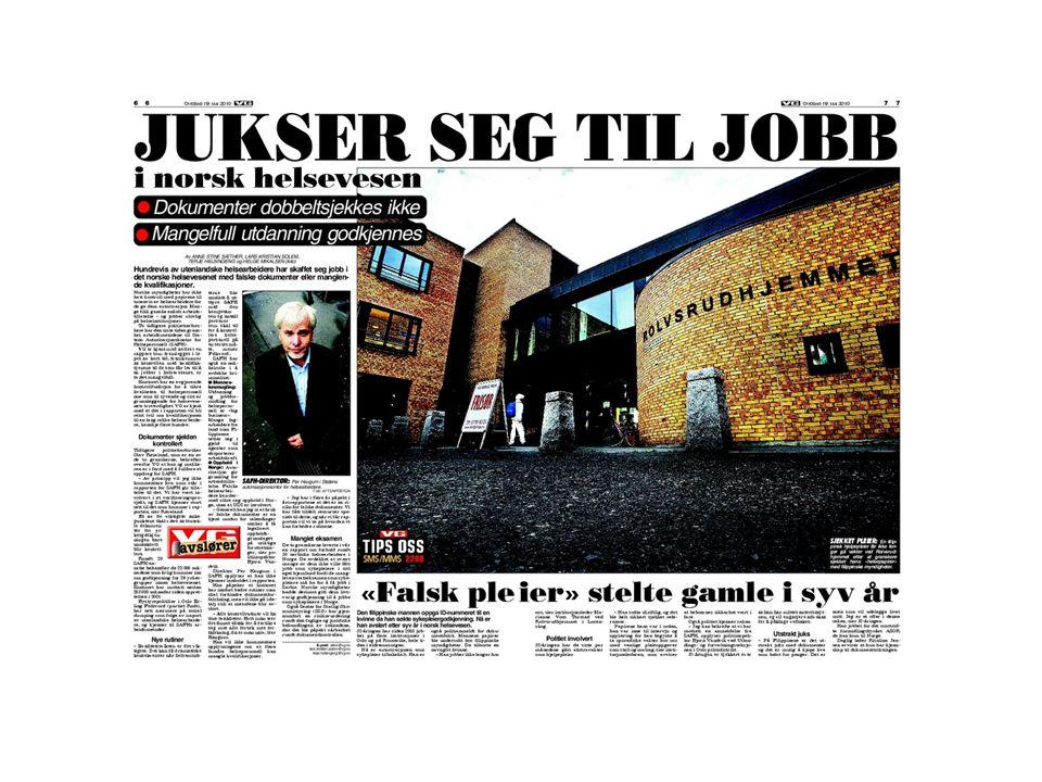 •Handelshøyskolen i Bergen •Godkjent i august 2002 – iflg FrP-CV • Samtidig: Divisjonsdirektør Ullevål Universitetssykehus med 300 ansatte •Kontakt: Informasjonsavdelingen ved NHH Siviløkonomen