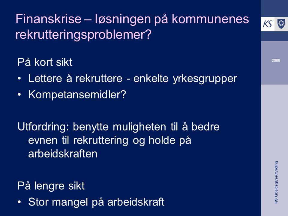 KS Arbeidsgiverutvikling 2009 Å være en god arbeidsgiver er aldri feil.