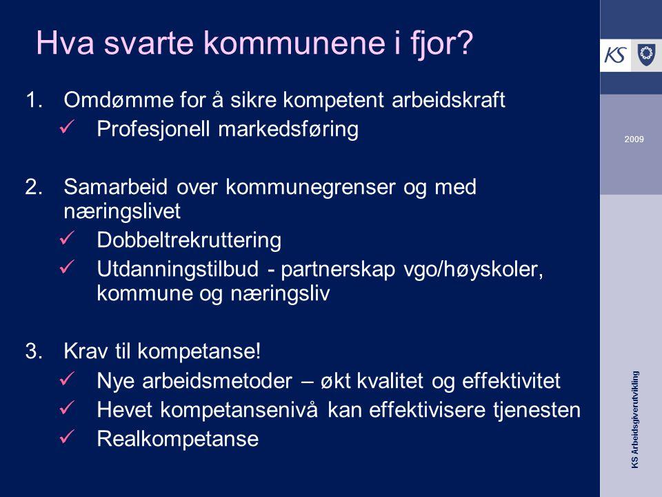 KS Arbeidsgiverutvikling 2009 Hvordan lykkes? Vi må finne nye løsninger i fellesskap!