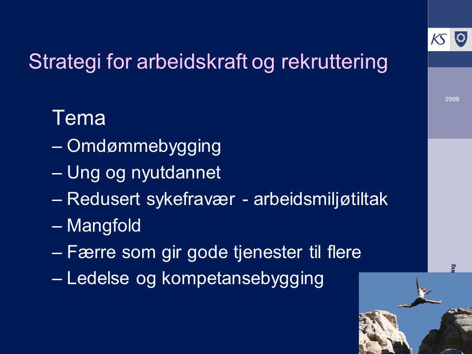 KS Arbeidsgiverutvikling 2009 Omdømme - mulige tiltak  Kommunikasjonsplan - rekrutteringsstrategien  Verktøy for systematisk omdømmearbeid.