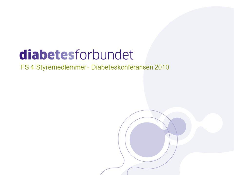 Overordnede mål: •At personer med diabetes ikke skal få sitt liv forkortet eller sin livskvalitet redusert på grunn av sin sykdom •Å stimulere til forskning slik at vi i framtiden kan helbrede og forebygge diabetes og dens komplikasjoner 2