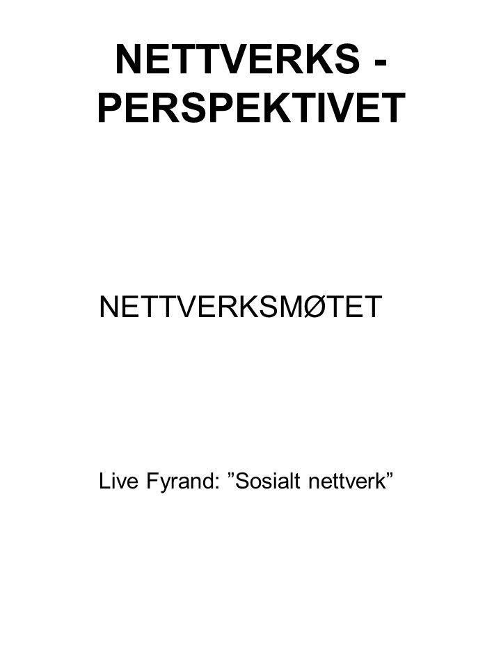 """NETTVERKS - PERSPEKTIVET NETTVERKSMØTET Live Fyrand: """"Sosialt nettverk"""""""