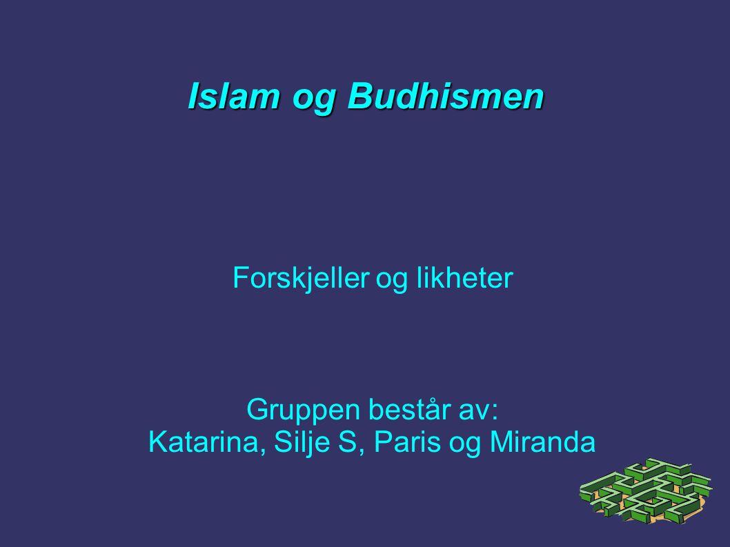 Oppgavefordeling  Paris og Katarina tok for seg å finne fakta og stoff om Budhismen  Silje og Miranda tok for seg å finne fakta og stoff om Islam