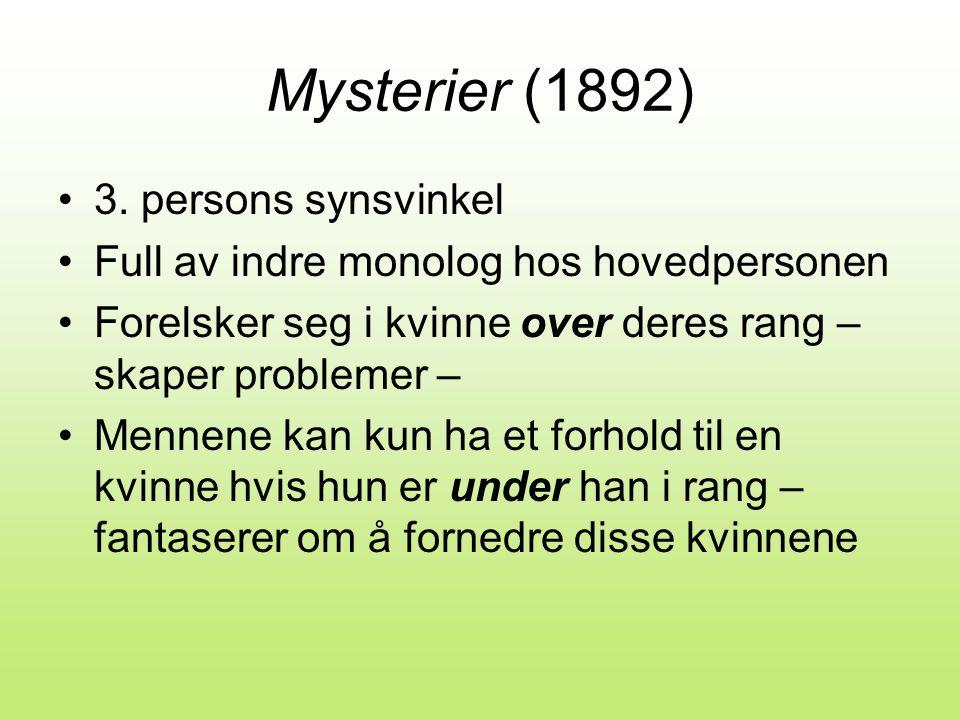 Mysterier (1892) •3.