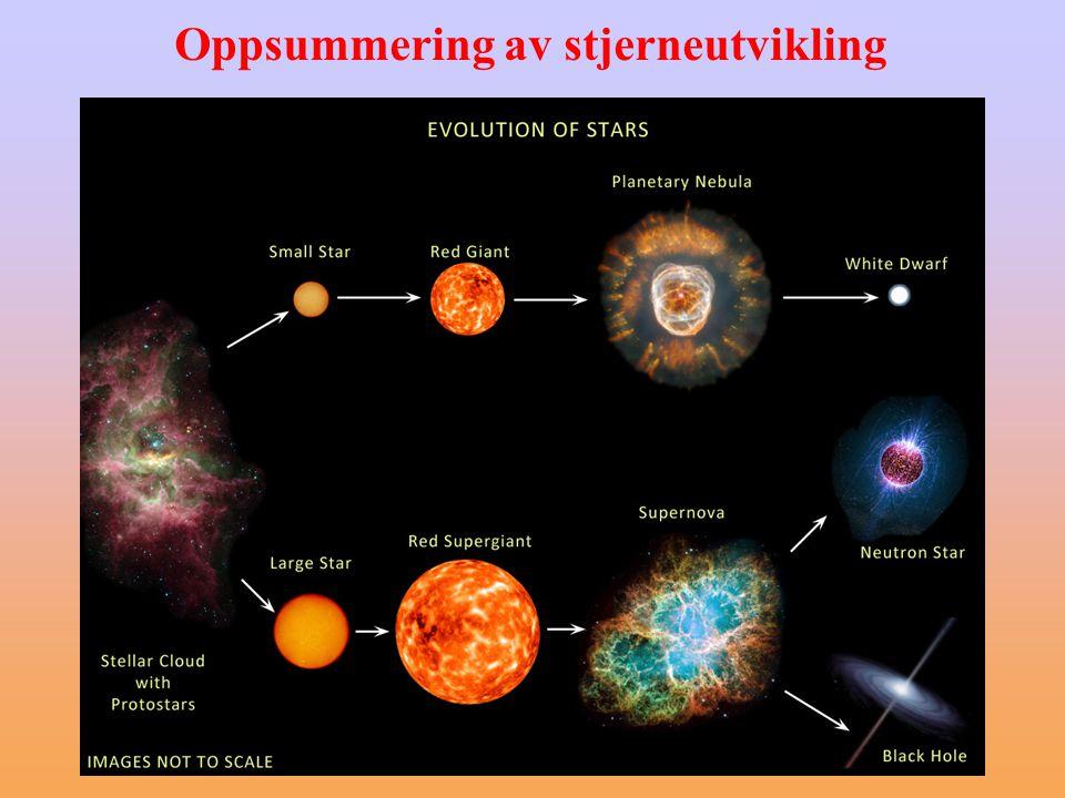 Oppsummering av stjerneutvikling