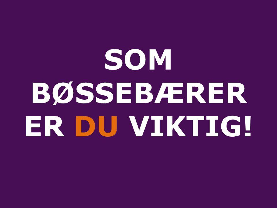SOM BØSSEBÆRER ER DU VIKTIG!