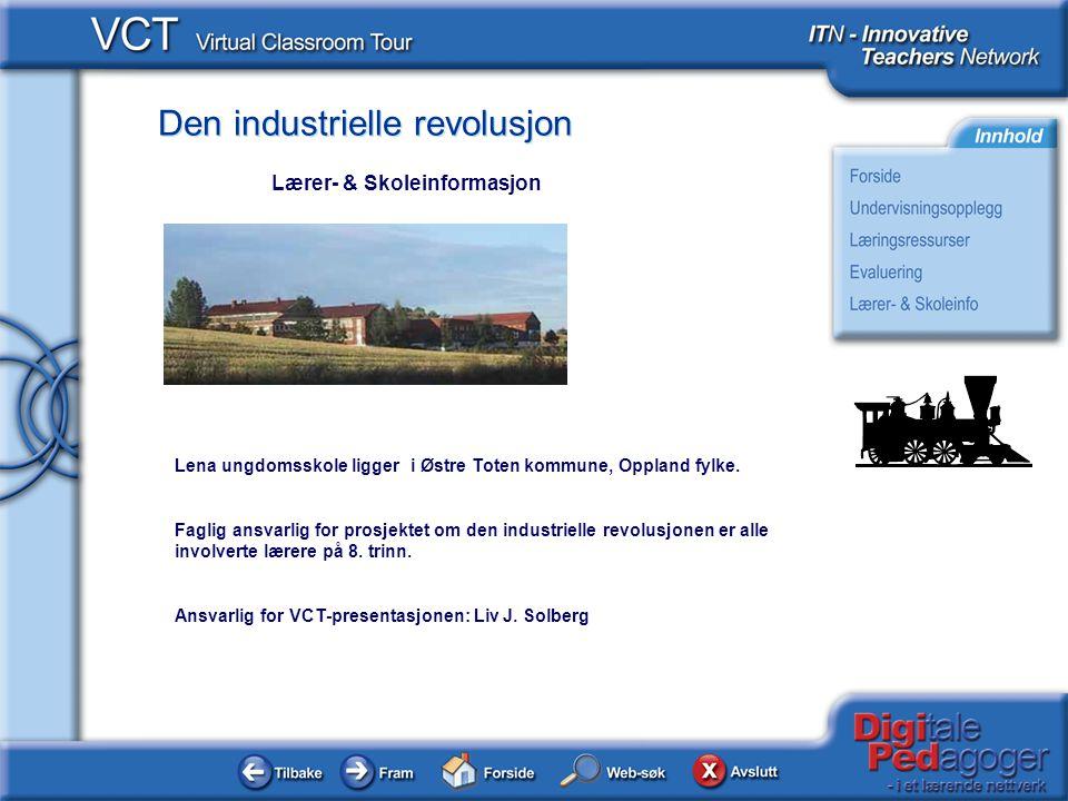 Den industrielle revolusjon Lena ungdomsskole ligger i Østre Toten kommune, Oppland fylke.