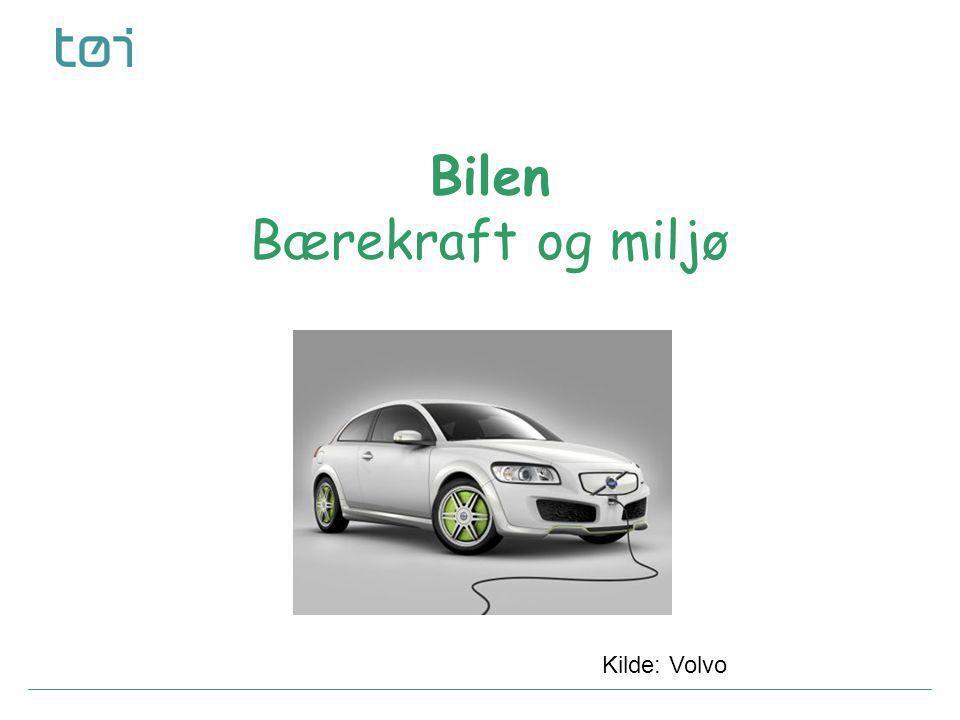Bilen Bærekraft og miljø Kilde: Volvo