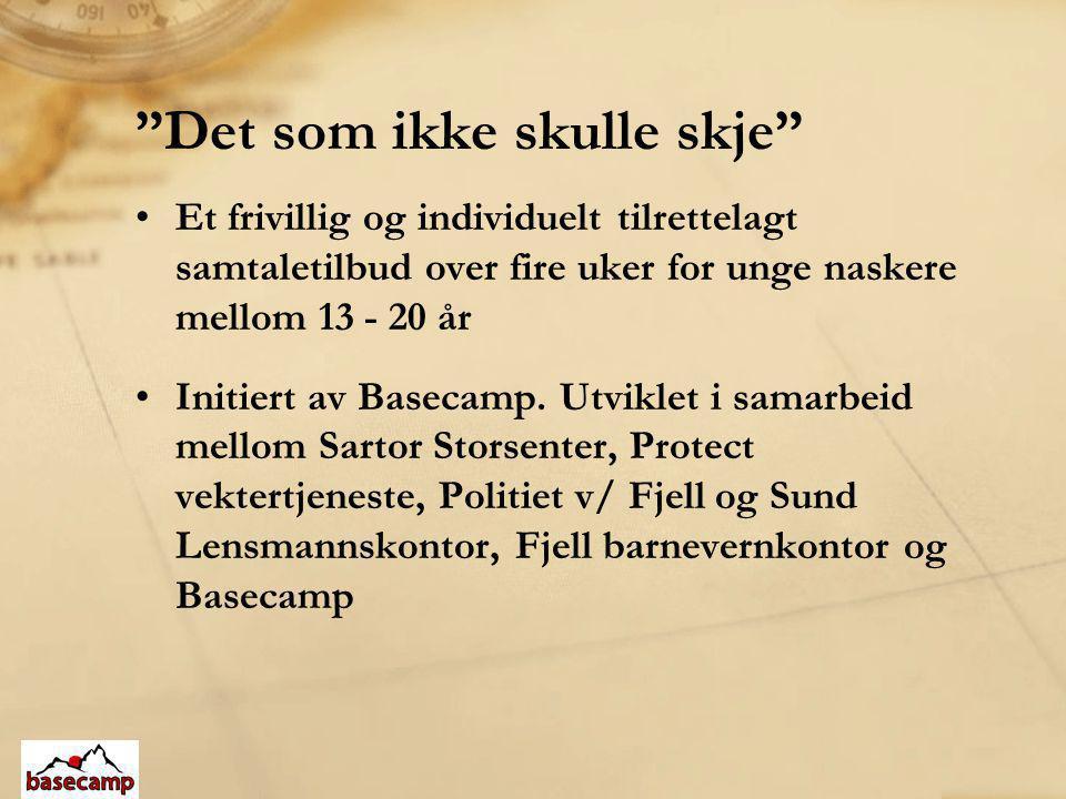 Det som ikke skulle skje (forts.) •En times samtaler med Basecamp sin ungdomsdiakon.