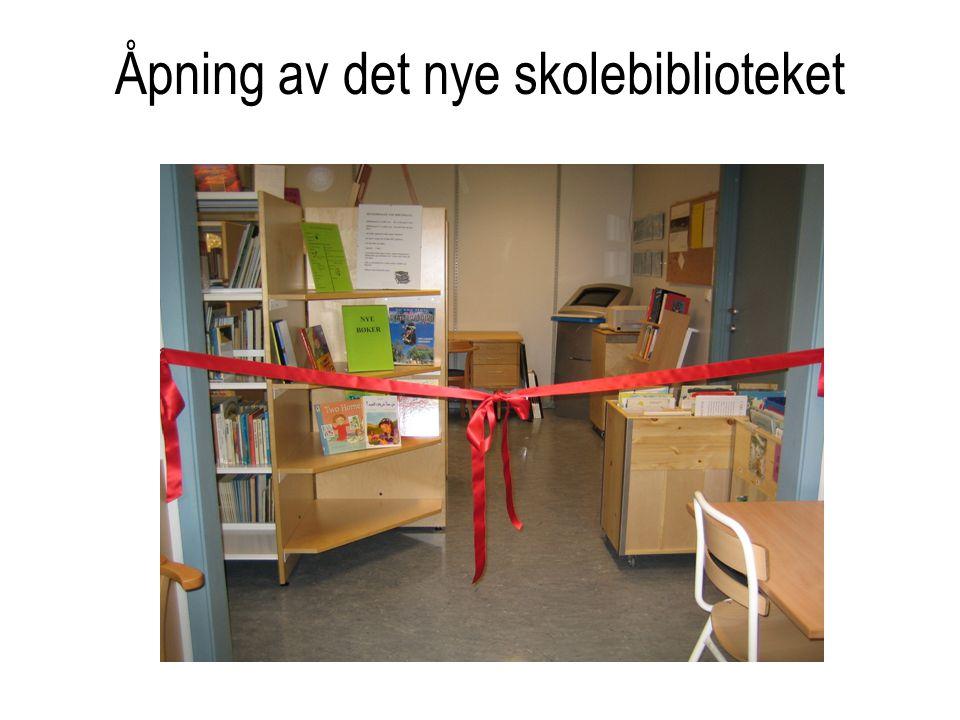 Åpning av det nye skolebiblioteket