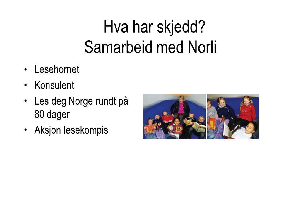 •Lesehornet •Konsulent •Les deg Norge rundt på 80 dager •Aksjon lesekompis