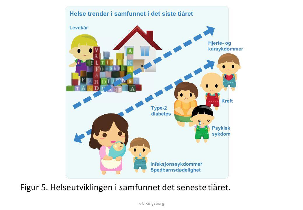 Figur 5. Helseutviklingen i samfunnet det seneste tiåret. K C Ringsberg