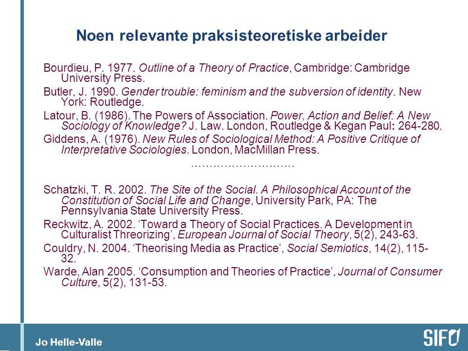 Jo Helle-Valle Hva vil det si å bedrive forskning og annet akademisk arbeid.