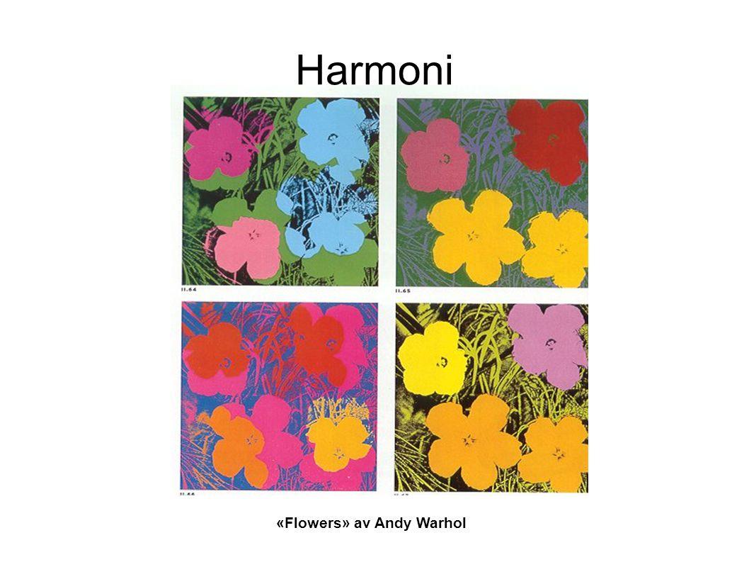 Harmoni «Flowers» av Andy Warhol