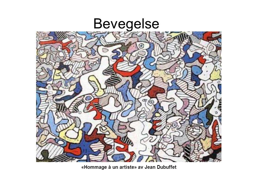 Bevegelse «Hommage à un artiste» av Jean Dubuffet