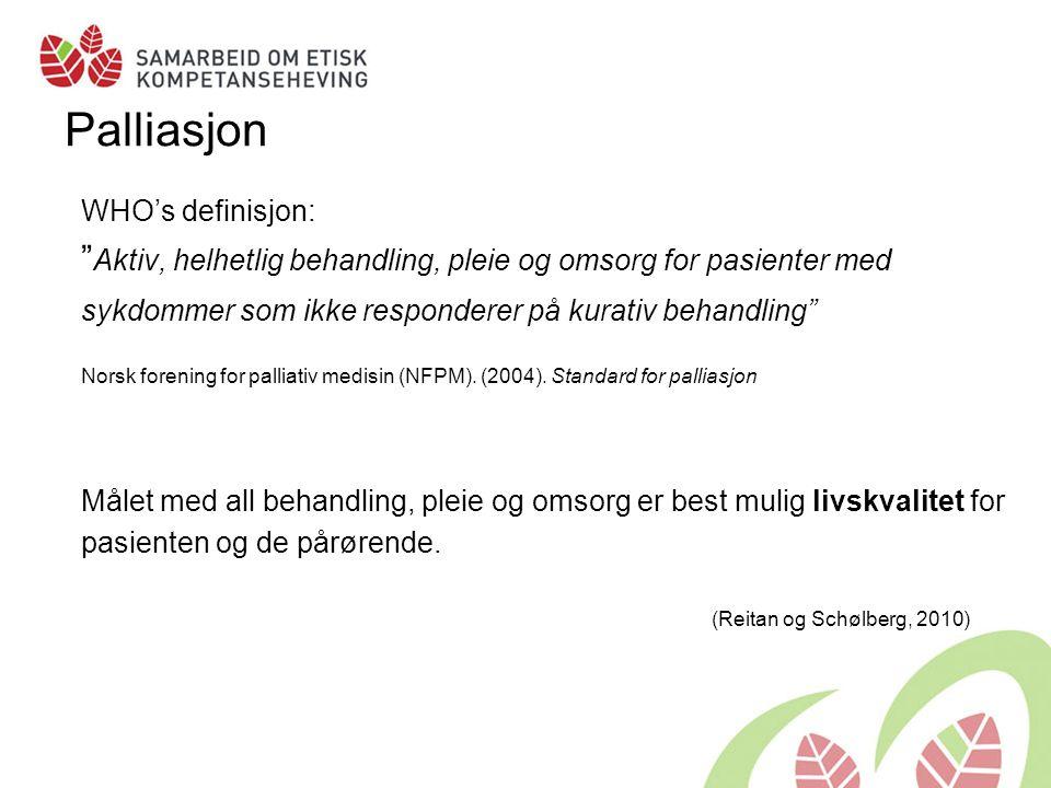 Livskvalitet Jon Gunnar Mæland har klassifisert definisjoner av begrepet livskvalitet innen ulike kategorier: •Tilfredshet •Tilfredsstillelse av behov •Lykke •Selvrealisering •Funksjonsevne (Reitan og Schølberg, 2010)