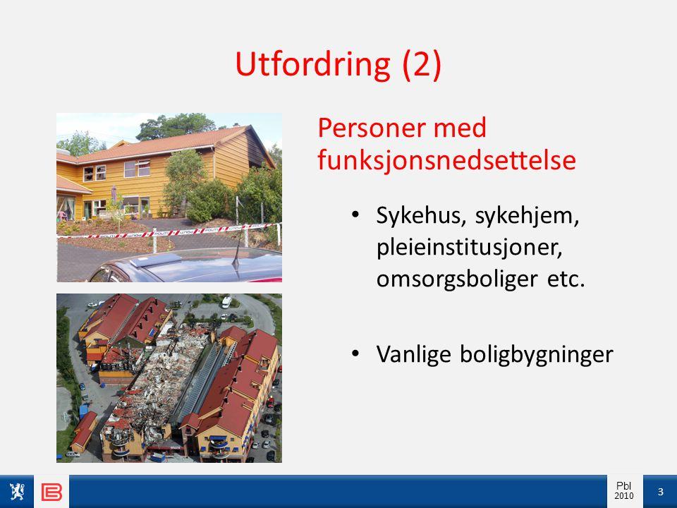 Info pbl 2010 Pbl 2010 Utfordring (2) Personer med funksjonsnedsettelse • Sykehus, sykehjem, pleieinstitusjoner, omsorgsboliger etc. • Vanlige boligby