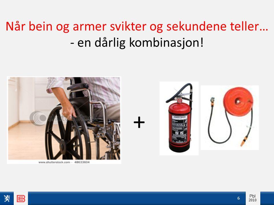 Info pbl 2010 Pbl 2010 6 + Når bein og armer svikter og sekundene teller… - en dårlig kombinasjon!