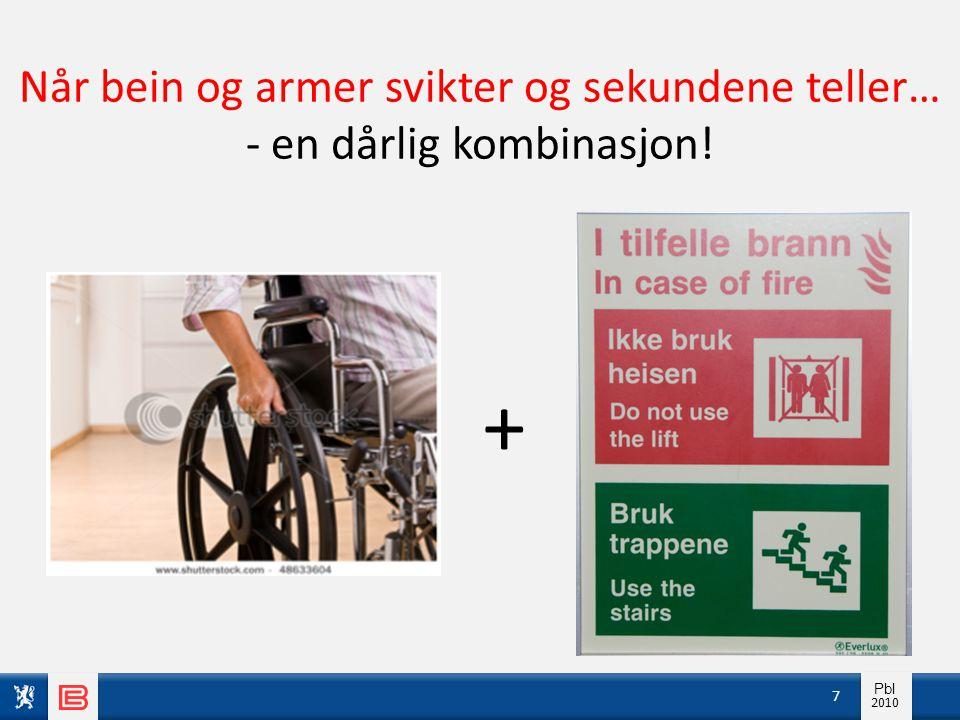 Info pbl 2010 Pbl 2010 7 + Når bein og armer svikter og sekundene teller… - en dårlig kombinasjon!