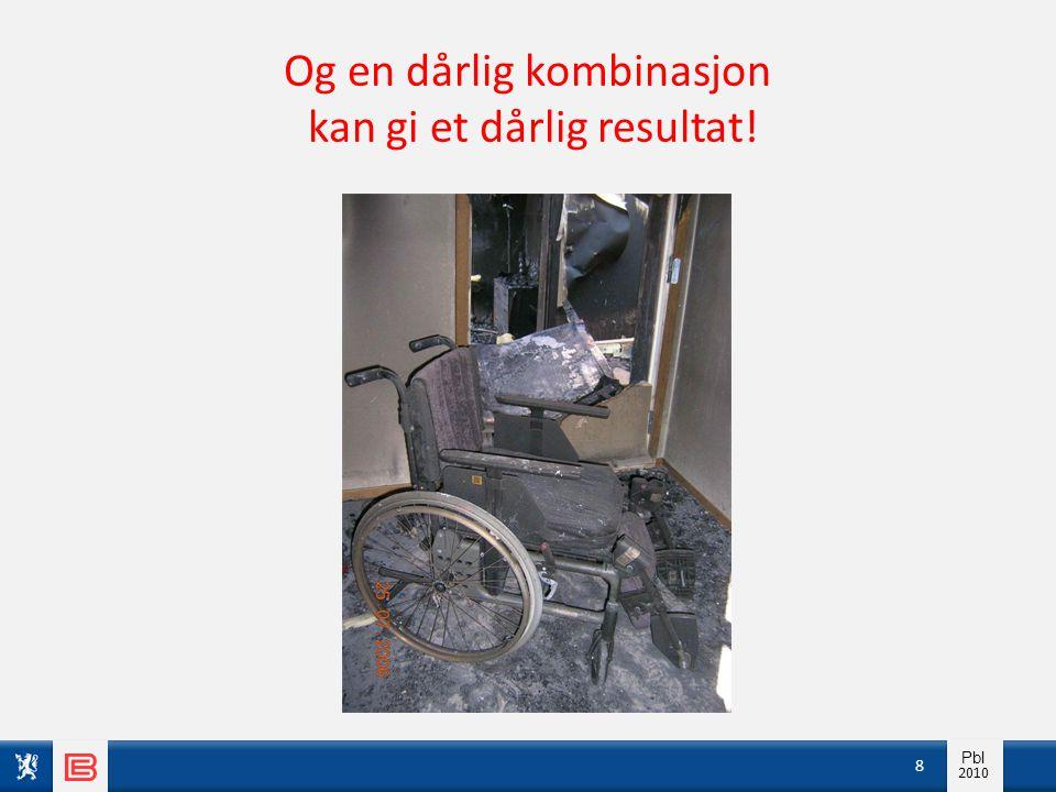 Info pbl 2010 Pbl 2010 Og en dårlig kombinasjon kan gi et dårlig resultat! 8