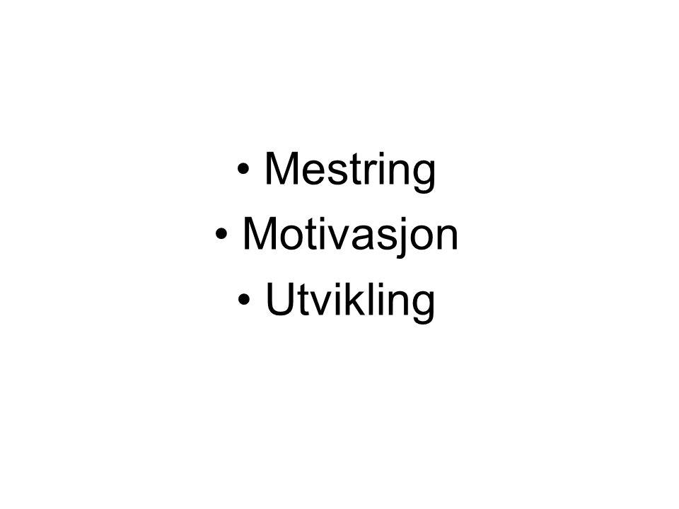 • Mestring • Motivasjon • Utvikling