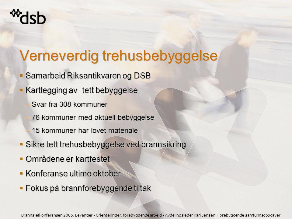 Brannsjefkonferansen 2005, Levanger - Orienteringer, forebyggende arbeid - Avdelingsleder Kari Jensen, Forebyggende samfunnsoppgaver Verneverdig trehu