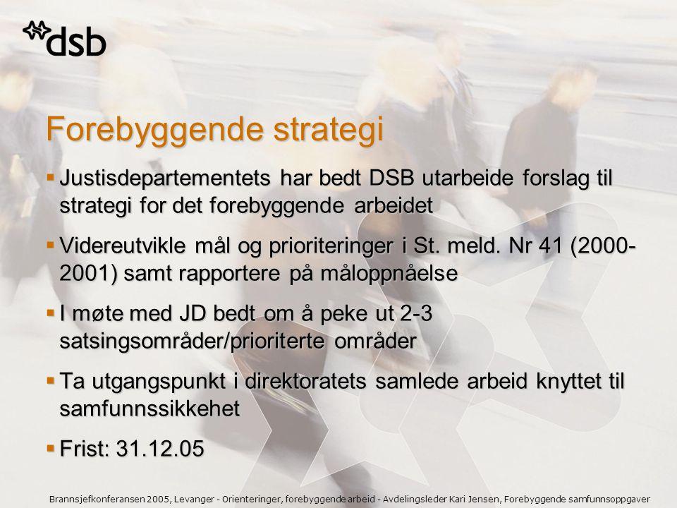 Brannsjefkonferansen 2005, Levanger - Orienteringer, forebyggende arbeid - Avdelingsleder Kari Jensen, Forebyggende samfunnsoppgaver  Justisdeparteme