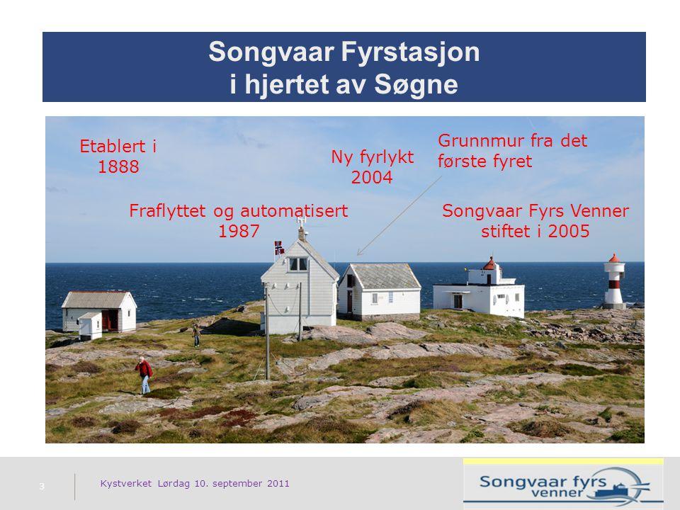 Songvaar Fyrstasjon i hjertet av Søgne Kystverket Lørdag 10.
