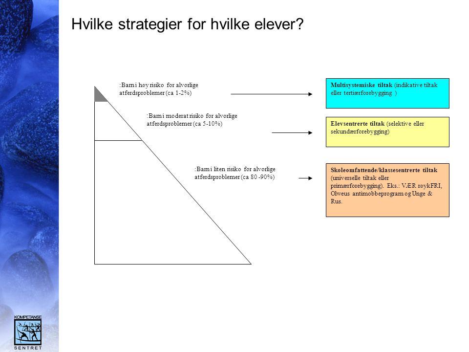 Hvilke strategier for hvilke elever.