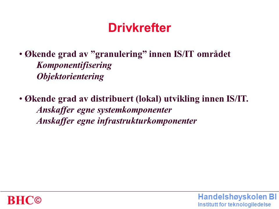 © BHC Handelshøyskolen BI Institutt for teknologiledelse Rangering av problemstillinger som opptar norske IT-sjefer Undersøkelse gjennomført høsten 19