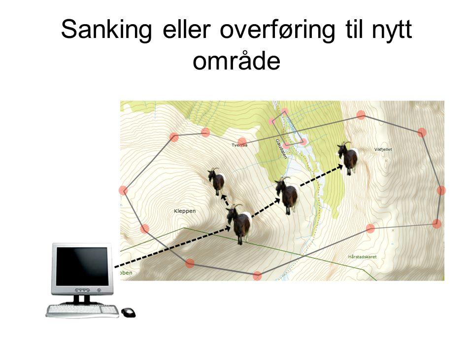 Sanking eller overføring til nytt område