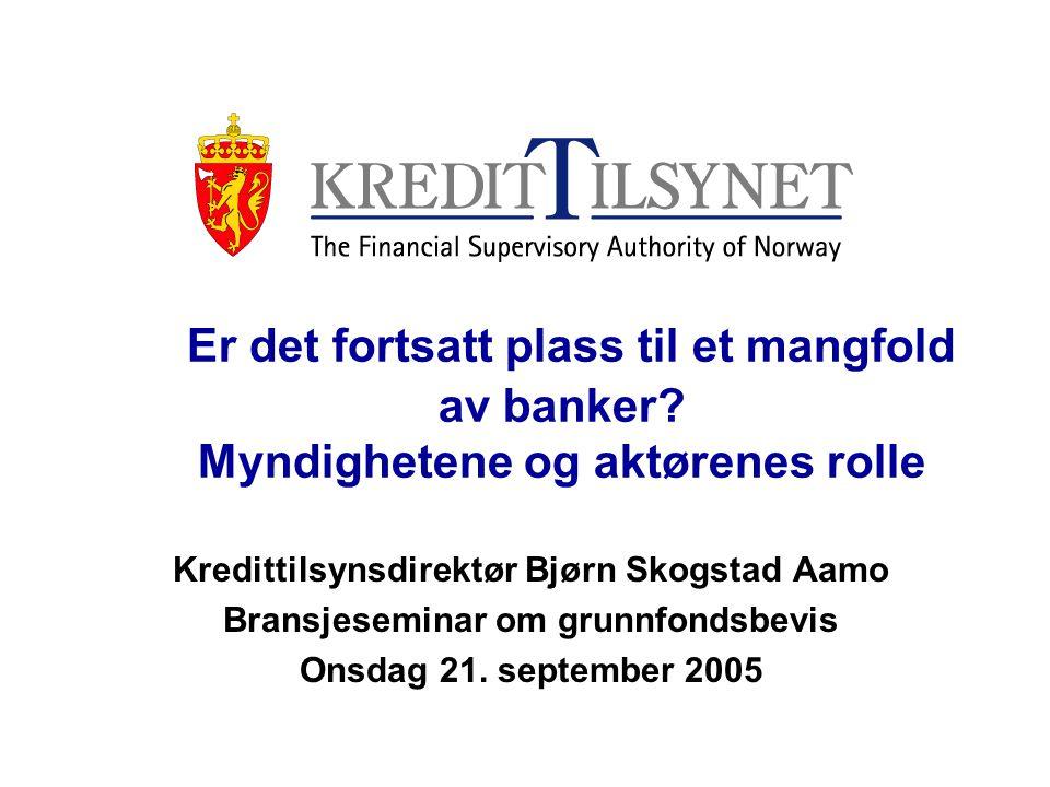 Er det fortsatt plass til et mangfold av banker.