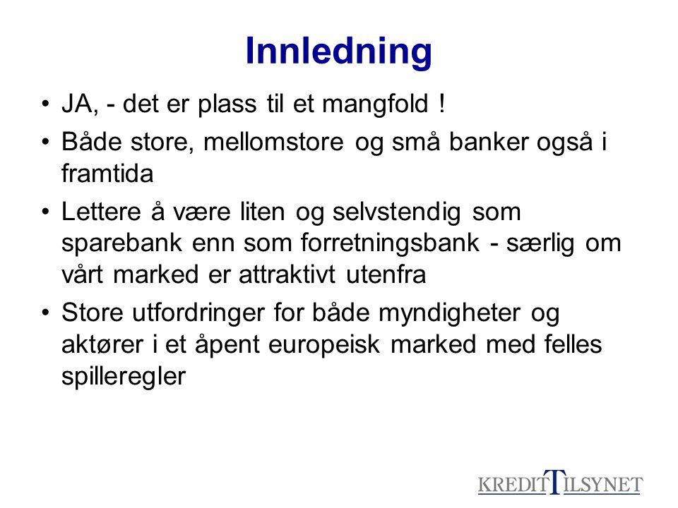 Disposisjon 1.Innledning 2. Historie – antall og typer finansinstitusjoner 3.