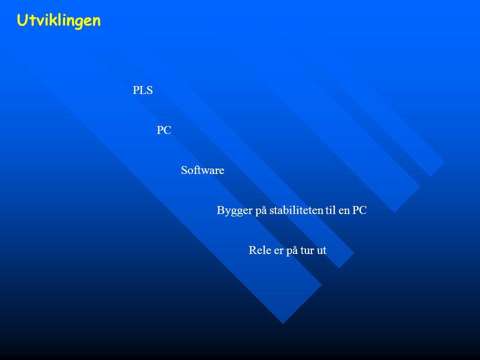 Utviklingen PLS PC Software Bygger på stabiliteten til en PC Rele er på tur ut