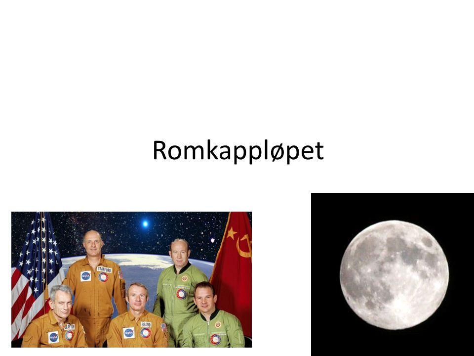Innhold • Hvorfor oppstod Romkappløpet.• Sputnik 1 • Laika og Ham • Apollo 11 • Fant sted.