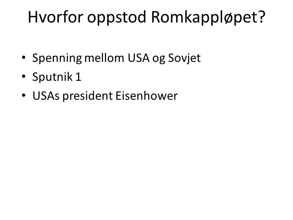 Sputnik 1 • 4. oktober 1957 • Startskuddet • USA blir paranoide