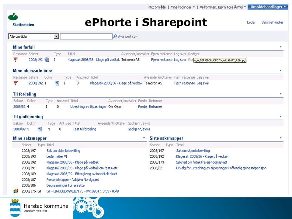 ePhorte i Sharepoint