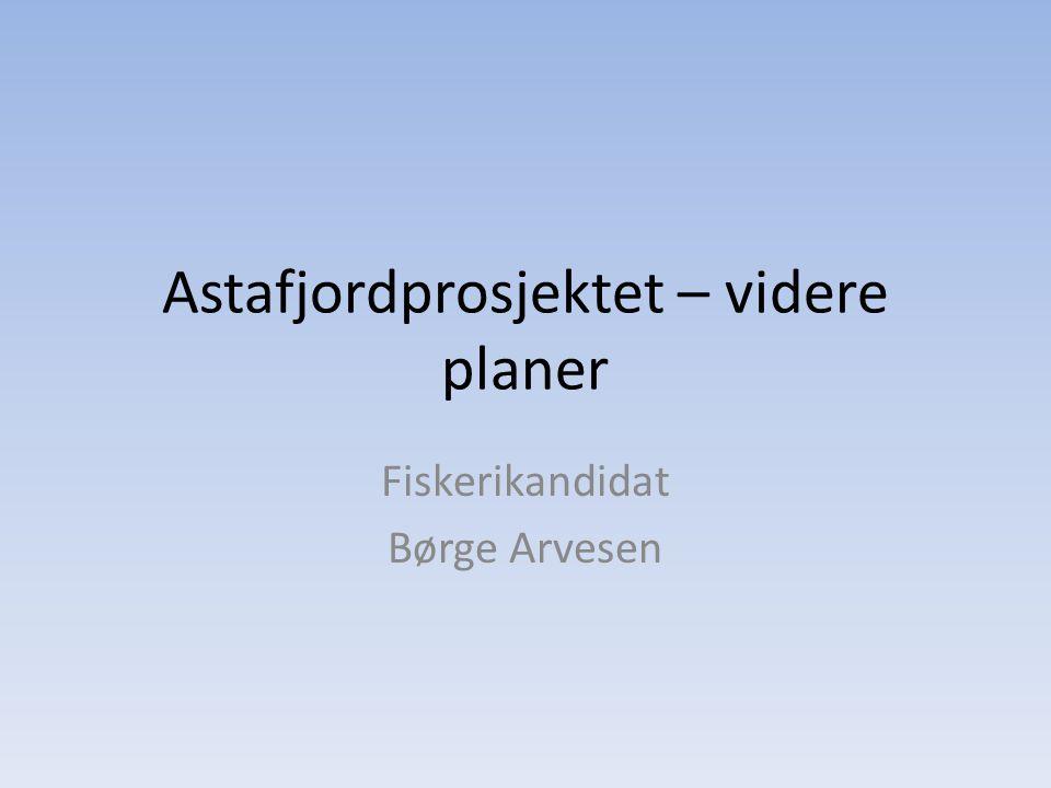 Astafjordprosjektet – videre planer Fiskerikandidat Børge Arvesen