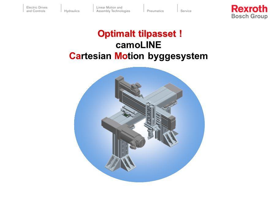 Optimalt tilpasset ! Optimalt tilpasset ! camoLINE Cartesian Motion byggesystem