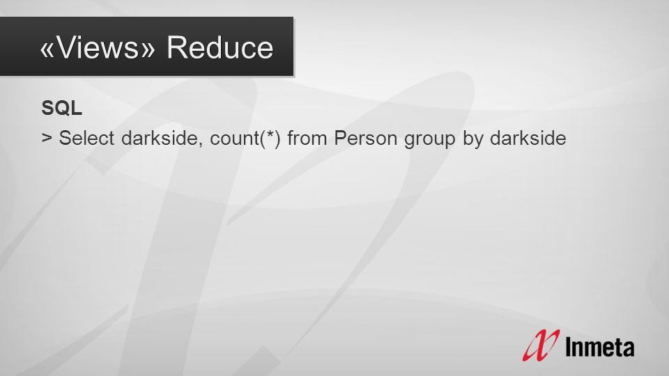 SQL > Select darkside, count(*) from Person group by darkside