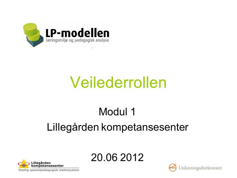 Veilederrollen Modul 1 Lillegården kompetansesenter 20.06 2012