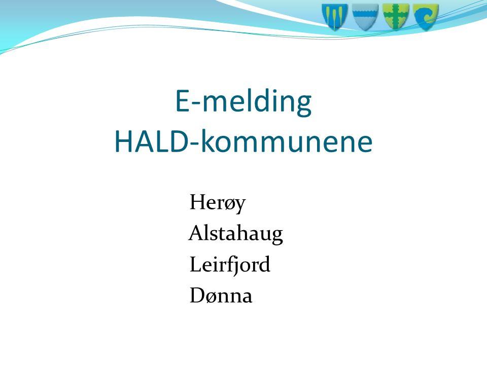 E-melding HALD-kommunene Herøy Alstahaug Leirfjord Dønna